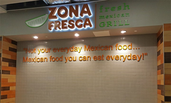 Zona Fresca Fort Lauderdale Airport Slogan In Fll