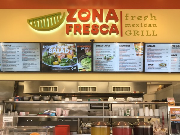 Lawrenceville - Zona Fresca's Fresh Menu