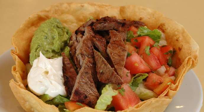 Fresh Mexican Food - Steak Tostada